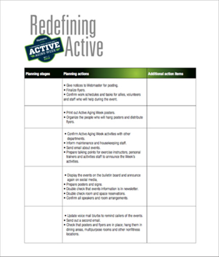 Active Aging Week Five Month Planning Guide